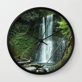 Ecola Falls in Oregon's Columbia River Gorge Wall Clock