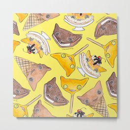 """""""Oro?"""" Ice Creams Yellow Metal Print"""