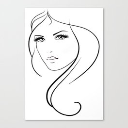 beautiful  girl   female   woman   background   beautiful   young   pretty   fashion   cute   happy Canvas Print