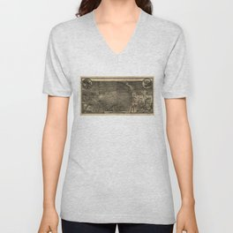 Bird's Eye View of St. Louis, Missouri (1876) Unisex V-Neck