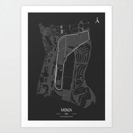 Autodromo Nazionale Monza, Italian Grand Prix. Formula1 Racing Track Poster Art Print