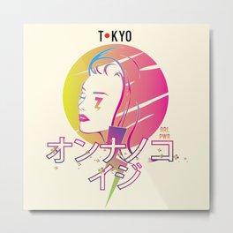 Tokyo Girl Power Japanese Katakana Metal Print
