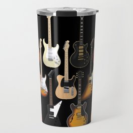 Too Many Guitars! Travel Mug