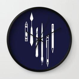 Create (dark blue version) Wall Clock