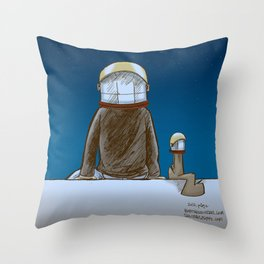 The universe, time and a squirrel Throw Pillow