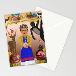 Frida Kahlo Tribute Copper Stationery Cards