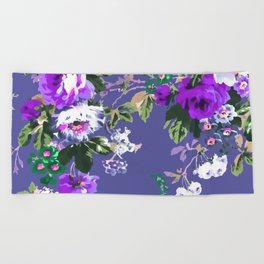 Bouquets with roses 3 Beach Towel