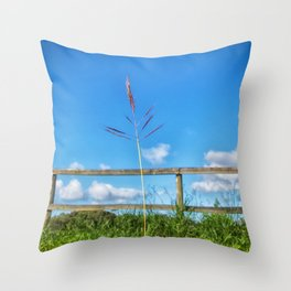 Grass in the country Throw Pillow