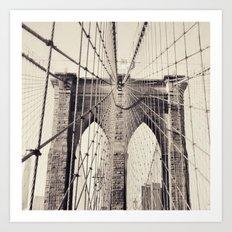 Brooklyn Bridge - New York Art Print