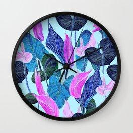 Lush Lily - cool brights Wall Clock