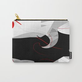 black and white meet red Version 33 Carry-All Pouch