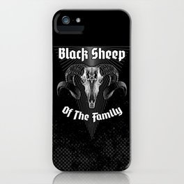 Black Sheep Of The Family iPhone Case