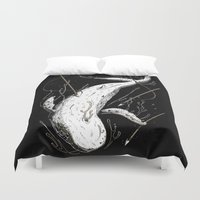 moby Duvet Covers featuring Moby-Dick. The Whale by pakowacz