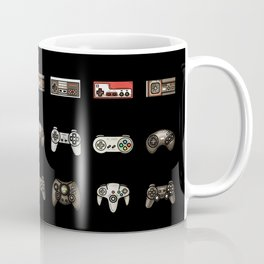 Retro Game Controllers Black Coffee Mug