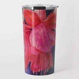 Fuchsias with Bokeh Travel Mug