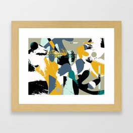 Mid-Century Abstract Framed Art Print