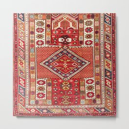 Bergama Northwest Anatolian Prayer Rug Print Metal Print