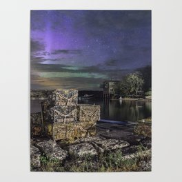 Lobster Trap Aurora Poster