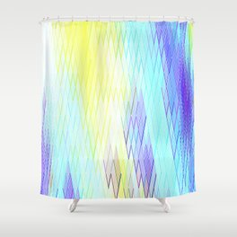Re-Created Vertices No. 30 by Robert S. Lee Shower Curtain