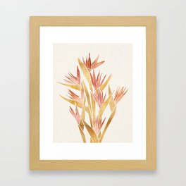 Deco Flowers ~ Metallic Birds of Paradise Framed Art Print