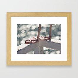 Seagull Legs Framed Art Print