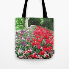 Tulips Path Tote Bag