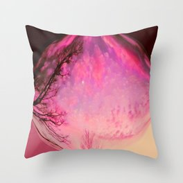Red sky orb Throw Pillow