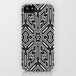 grid black white 3 iPhone Case