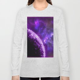 Purple Planet Bout to Blow Long Sleeve T-shirt