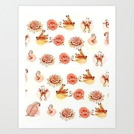 garden pattern Art Print
