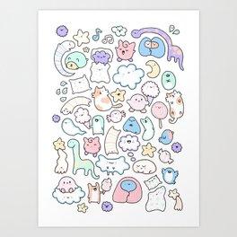Oyasumi Art Print