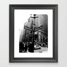 E 45th St & Madison Ave, NY Framed Art Print
