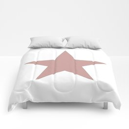 Ancient rose star on white Comforters