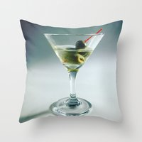 martini Throw Pillows featuring Martini by Kimpressions