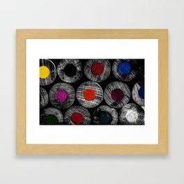 Art Supplies Black And White Framed Art Print