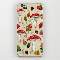 mushrooms iPhone & iPod Skins featuring Mushrooms by Minasmoke