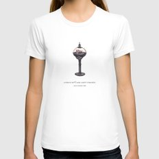 a piece of Cake White LARGE Womens Fitted Tee