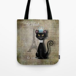 Le Chat, La Reine - The Cat, The Queen Tote Bag
