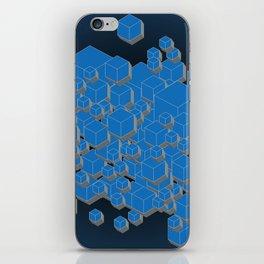 3D Futuristic Cubes IV iPhone Skin