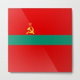 Flag of Transnistria Metal Print