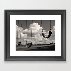 Old School Swings Framed Art Print