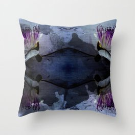 caper lily blue Throw Pillow