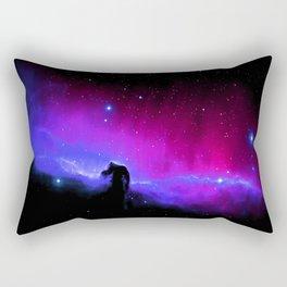 nEbulA : Horsehead Nebula Fuchsia Purple Blue Rectangular Pillow