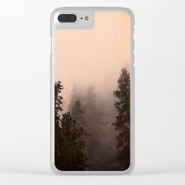 Deep in Thought - Forest Nature Photography Clear iPhone Case