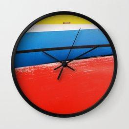 GRAND RESORT SERIES. Boats, Piran, Mediterranean Sea, Color Film Photo Wall Clock