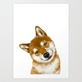 Smile Shiba Inu Art Print