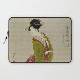Itsutomi - Vintage Japanese Woodblock Laptop Sleeve