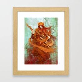 wandering minstrel Framed Art Print