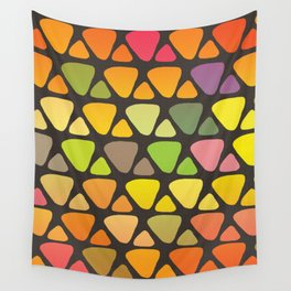 Bright colorful abstract triangles retro pattern Wall Tapestry