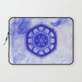 Blue wheel of fortune mandala Laptop Sleeve